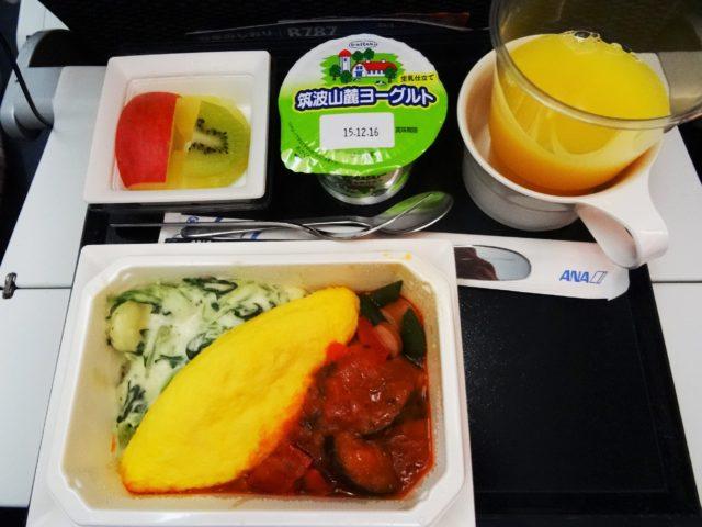 全日空(成田→デュッセルドルフ)エコノミー搭乗記 2015年機内食#2
