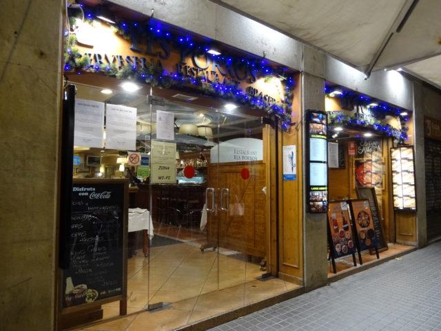 サグラダ・ファミリア側のエルス・ポルチョス(Els Porxos)でスペイン料理